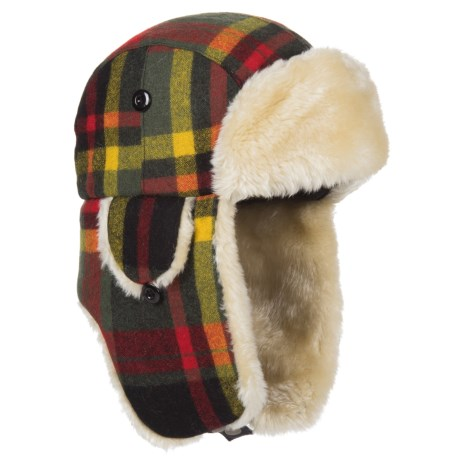 Woolrich Plaid Aviator Trapper Hat (for Men)