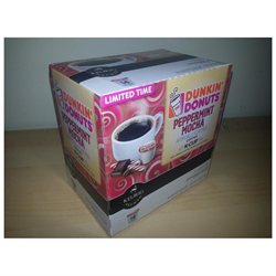 Dunkin Donuts Peppermint Mocha 28 K cups - Next day USPS Priority Shipping !