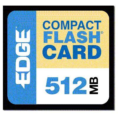 Edge Memory Pe179502 Digital Media Premium - Flash Memory Card - 512 Mb - Compactflash