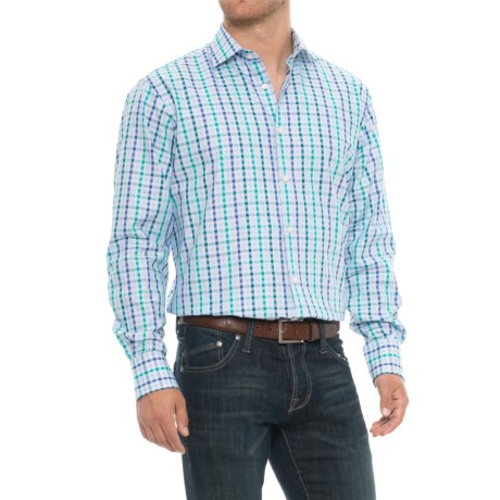 Gingham Sport Shirt - Long Sleeve (for Men)