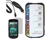 Body Glove Satin Sleeve Gel Skin Cover Case For Verizon Kyocera Brigadier E6782   Lcd Car Charger