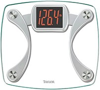 Taylor 015-02-3044 Digital Glass Scale With Red Read-out - Clear/silver
