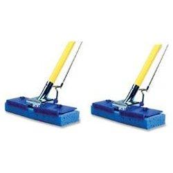 Butterfly Mop, w/ Scrubber Strip, 2 Count, Blue