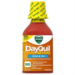 Vicks Flu Relief Liquid, 8 Fl Oz