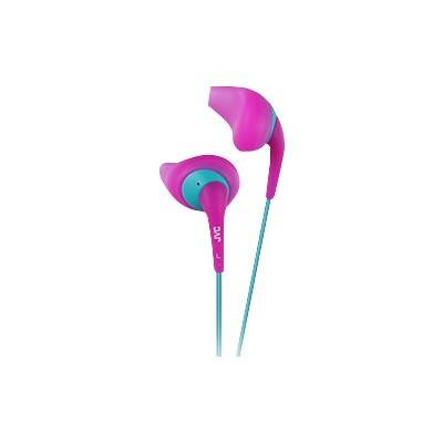 Jvc Haen10p Gumy Sport Binaural Ear Bud Headphones - Pink
