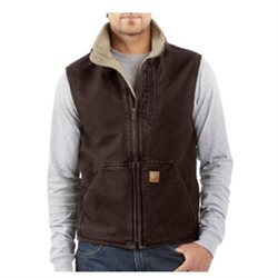 Carhartt Work Vet Men Mock andtone Inulated herpa Dk Brown V33