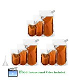 Home Team Concealable And Collapsible Cruise Liquor Bag With Funnel For Bringing Along Booze During Concerts, Camping, Vacations And More (Set Of 9 With 3 Sizes - 32 oz, 16 oz, 8 oz)