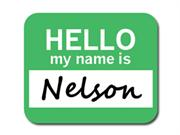 Nelson Hello My Name Is Mousepad Mouse Pad