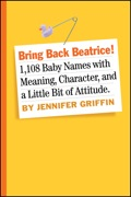 In a world where too many babies are named Ashley and Jayden and too many baby name books are saccharine pink and blue, here comes something singular: a book that brings meaning, taste, character, a little bit of attitude, and a refreshing lack of trendiness to the art of naming a baby