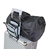 Utility Travel Bag Organizer, Carry On Travel Bag Bungee,Portable Travel Pouch With Sleeve And Strap To Attach Any Tote,Luggage Packing Organizer Side Roll (Grey)