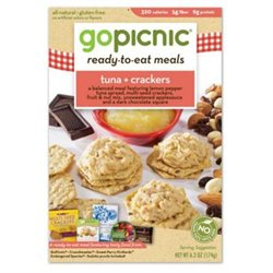GoPicnic Ready-To-Eat-Meals, Tuna   Crackers, 6.2 oz, 6 per Carton