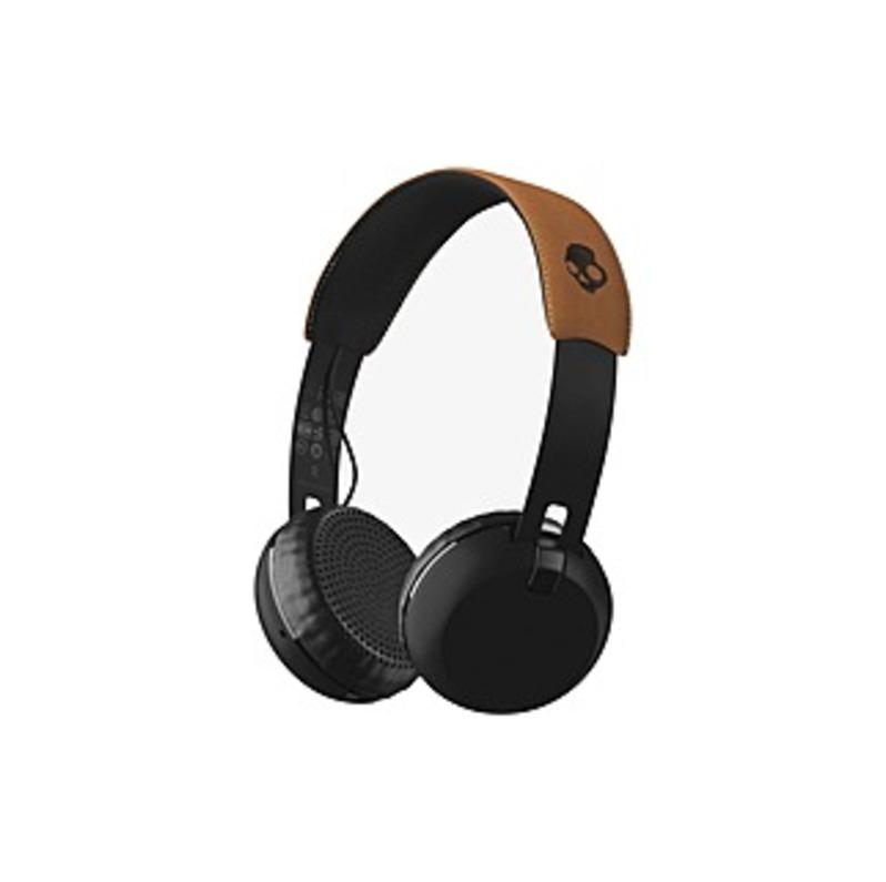 Skullcandy Grind Wireless Headset - Stereo - Black, Tan - Mini-phone - Wired/wireless - Bluetooth - 33 Ft - 35 Ohm - 20 Hz - 20 Khz - Gold Plated - Ov