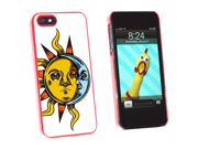 Mystical Sun And Moon - Occult - Snap On Hard Protective Case For Apple Iphone 5 - Red