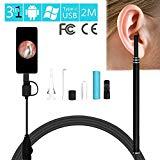 AllGreen Digital USB Ear Otoscope, USB Digital Otoscope for Ear Cleaner/HD Visual Endoscope Ear Inspection Cleaning Tool with Camera (Black)