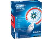 Oral-b Pro 5000 Smartseries With Bluetooth Electric Rechargeable Power Toothbrush, 3 Pc