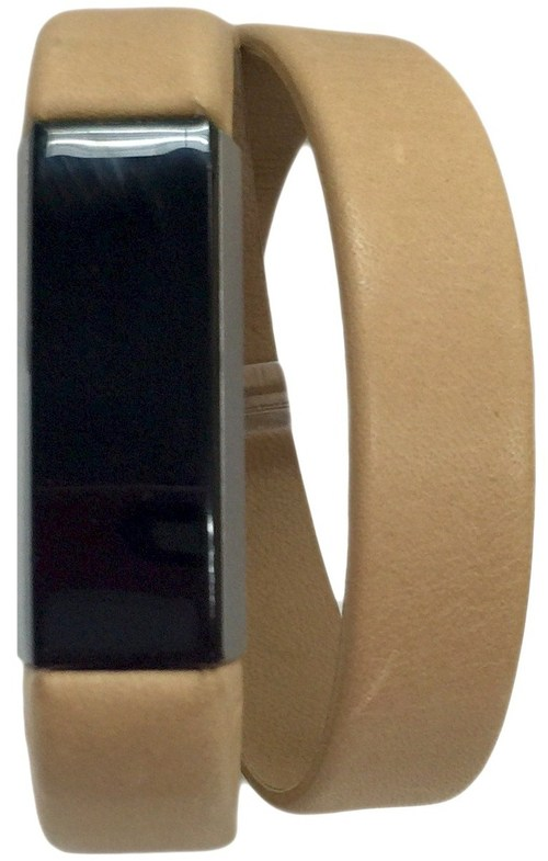 Fitbit 1805-6006-nd Smart Buddies Double Wrap Leather Band For Alta Activity Tracker - Nude