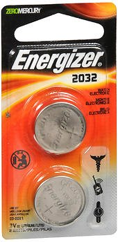 Energizer Watch Electronic Batteries 2032 - 2 pack, Pack of 2