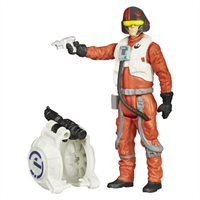 Star Wars Episode Vii: Poe Dameron Figure With Jetpack By Hasbro