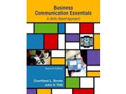 Business Communication Essentials Publisher: Pearson College Div Publish Date: 1/3/2015 Language: ENGLISH Pages: 478 Weight: 2.6 ISBN-13: 9780133896787 Dewey: 658.4/5