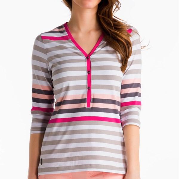 Lole Adore Henley Shirt - UPF 50 , 3/4 Sleeve (For Women)