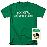 It's Always Sunny In Philadelphia Paddy's Pub T Shirt & Exclusive Stickers (Large) Green