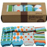 juDanzy boys organic 4 pack of baby & toddler leg warmers (Squire)