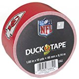 Duck Brand 281546 Kansas City Chiefs NFL Team Logo Duct Tape, 1.88-Inch by 10 Yards, Single Roll