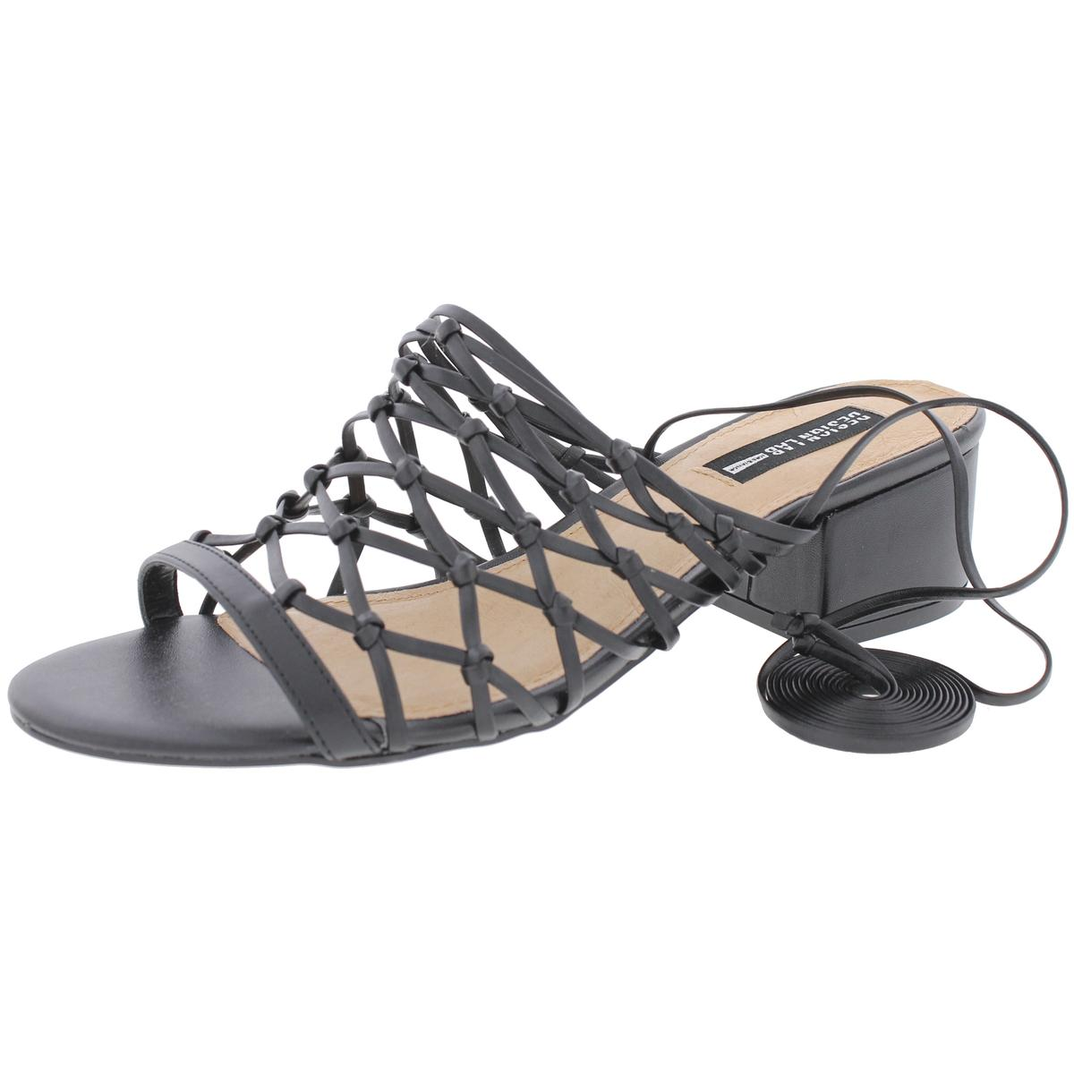 Design Lab Womens Mya Wrap Open Toe Heels