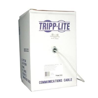 Tripplite N022-01k-gy Cat5e 350mhz Bulk Solid-core Pvc Cable - Gray  1000-ft.