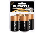 Duracell   Proctor And Gamble 4 Count D Cell Duracell® Coppertop Alkaline Batteries