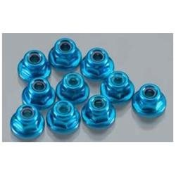 Color Flanged Lock Nut (10) 3mm, Blue INTC24433BL