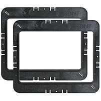 M System MR6W Speaker Mounting Ring For 6 inch In Wall   Black, The MR6W is a rough it kit for WG100W, S100W.