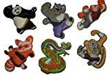 Dreamworks Kung Fu Panda 2 Set of Shoe Charms 6 pc