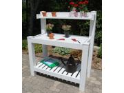 Hillcrest Potting Bench In White Finish