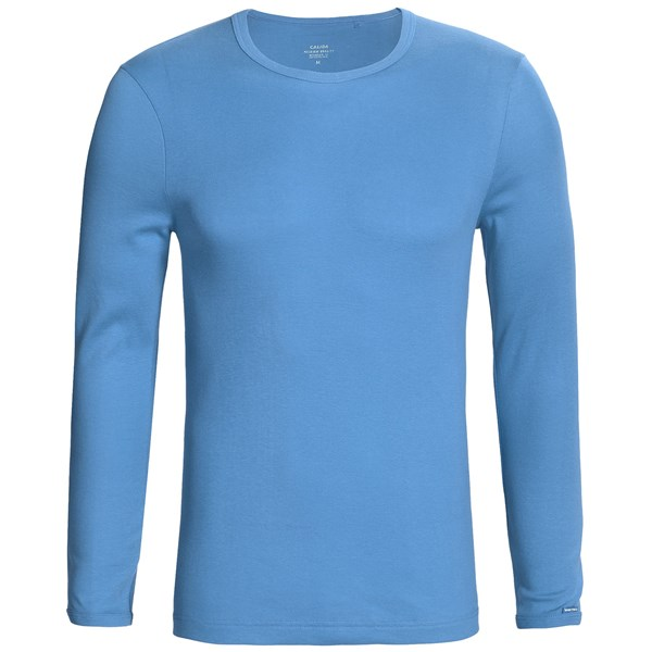 Calida Remix 1 Shirt - Cotton, Crew Neck, Long Sleeve (For Men)