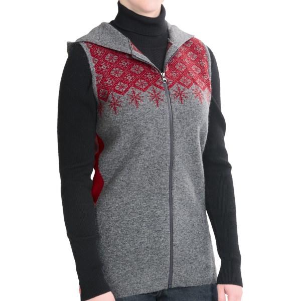 Woolrich Mountainside Hoodie Vest - Lambswool (For Women)