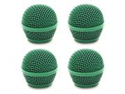 Seismic Audio - Sa-m30grille-green-4pack - 4 Pack Of Replacement Green Steel Mesh Microphone Grill Heads - Compatible With Sa-m30, Shure Sm58, Shure Sv100 And S