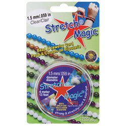 Stretch Magic Bead & Jewelry Cord 1.5mm 4 Meters-Clear