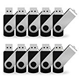 JUANWE 50 Pack 8GB USB Flash Drive USB 2.0 Thumb Drives Jump Drive Fold Storage Memory Stick Swivel Design - Black