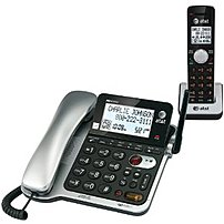 V-tech Communications Cl84102 Corded/cordless Phone With Digital Answering System - Caller Id Announce - Silver/black