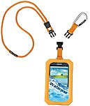 Icat Dri Cat Underwater Case For Smartphone - Orange - Water Proof - Silicone - Lanyard Strap 11061p-c98