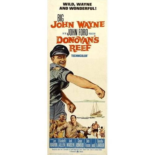 Donovan's Reef Poster Movie Insert 14 x 36 In - 36cm x 92cm John Wayne Lee Marvin Jack Warden Elizabeth Allen Dorothy Lamour Mike Mazurki