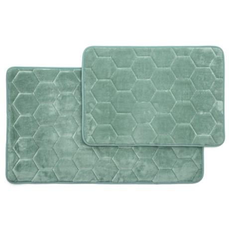Honey Memory-foam Bath Rugs - Set Of 2
