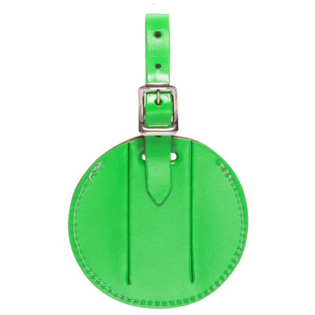 Round Neon Luggage Tag