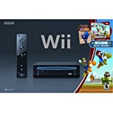 Black Wii Console with New Super Mario Brothers