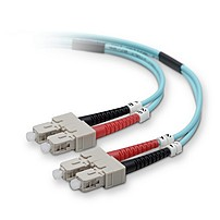 Belkin's 10 Gb Aqua fiber optic cables are backward compatible with existing network equipment and provide close to three times the bandwidth of traditional 62.5 125 multimode fiber
