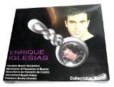 Enrique Iglesias Portrait Silver-Colored Pocket Watch
