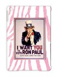News Politics 2012 Ron Elections Ron Paul Poster Rand I Want You Presidential Candidate American President Uncle Sam YOU To Vote For Red TPU Ipad Air Protective Hard Case