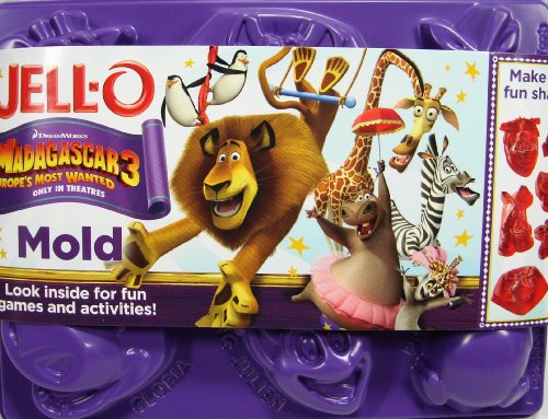 Jell-O Jigglers Madagascar 3 Jell-O Molds