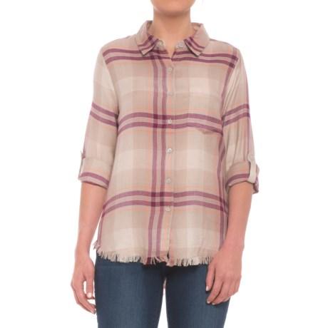 Fringed Plaid Shirt - Long Sleeve (for Women)